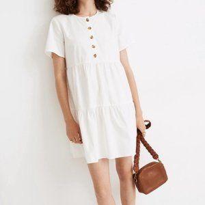 Madewell short sleeve mini dress white extra small